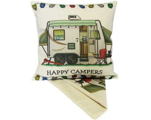happy camper cushion cover